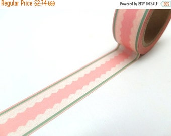 Vintage Style Pink Lace Washi Tape, Wide Washi Tape Shipping End of July 2016