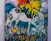 Trivet    -  Unicorn Born  -  Ceramic tile - from original batik