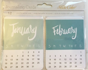Studio Calico Journaling Cards - Months
