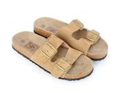 Men's Birkenstock Style Suede Sandals Size 10