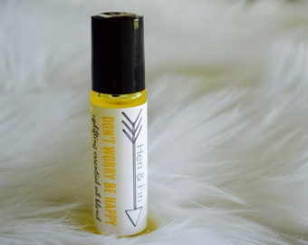 DON'T WORRY be HAPPY Essential Oil Roller Bottle Blend