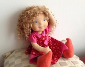 """RESERVED Waldorf Doll - Kaylee - 18""""  Waldorf inspired doll FIRST PAYMENT"""