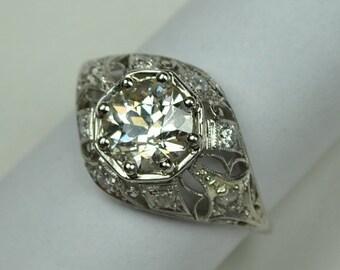 ON SALE Lacy Edwardian Diamond Engagement or Wedding Ring