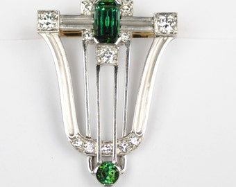 ON SALE Tiffany and Co. 18kt Art Deco Clip