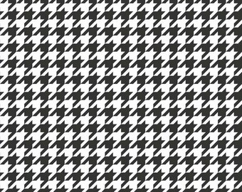 1YD HOUNDSTOOTH BLACK WHITE Halloween Riley Blake Fabric Quilting Sewing c970-110-black-13905