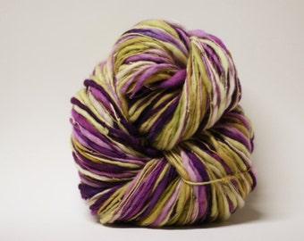 Hand Spun Merino Thick and Thin Yarn Bulky Self-striping Wool Slub  Hand Dyed tts(tm) U16001x
