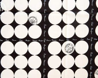 Suzuko Koseki French Small Dot in Black and White, Yuwa Fabric, 100% Cotton Japanese Fabric