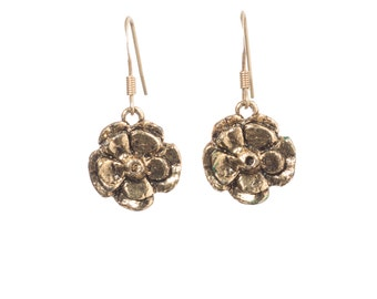 Rustic Copper Flower Earring