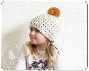 CHUNKY HIPSTER HAT : toddler crochet hat