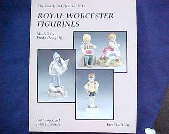 Royal Worcester Figurines, First Edition Reference Book, The Charlton Price Guide To, Models by Doughty, England Collectible Porcelain