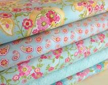 Colette Fabric Bundle, Moda's Chez Moi, Select a Length, 5 Different Coordinating Fabrics