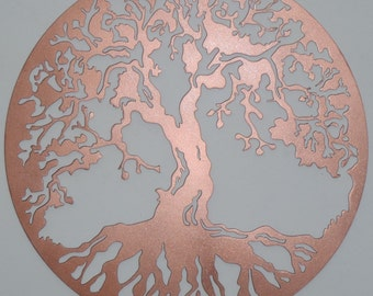 Tree Of Life, Wall decor, Metal Art - COPPER Look, 75 cm, 29.5 inches