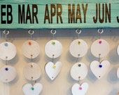 30 - White Painted Wooden Circles for Birthday Boards - Ready to Use - with Unique Hang System - No Tools Required