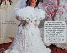 20%OFF The Needlecraft Shop MEGAN's WEDDING Gown Ladies of Fashion By Inez Collins Scott - Fashion Doll Crochet Pattern