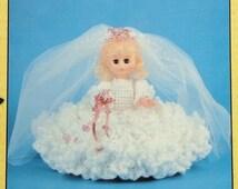 "20%OFF Td Creations HEIDI BRIDE 11"" Mini Bed Doll - Crochet Doll Dress Clothes Clothing Pattern"