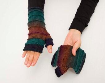 Fingerless gloves , Knitted fingerless gloves  -  COLOR OPTION AVIABLE