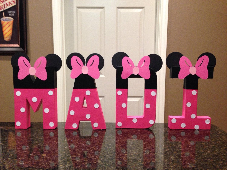 Minnie Mouse Personalizado Nombre Letras Precio Por