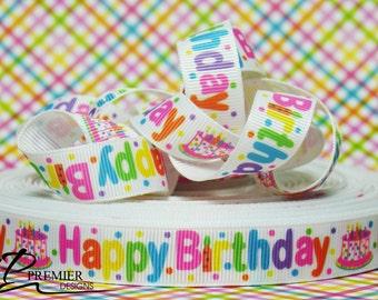 "5/8"" Birthday Grosgrain Ribbon"