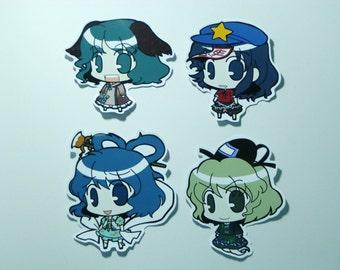 Touhou Project Art Sticker 7Pcs. Seiga, Mamizou, Tojiko, Yoshika Free Shipping