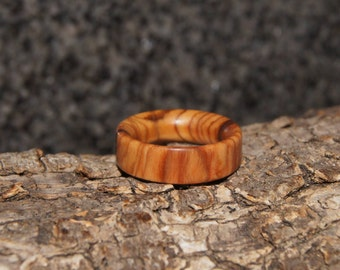 Size 4  3/4 - Olive Wood Ring