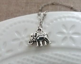 Elephant Bracelet, Small Elephant Pendant,  Good Luck Jewelry, Graduation Gift, Cute Silver Elephant, Good Luck Charm