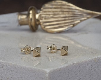 Nova Gold Pyramid Earrings