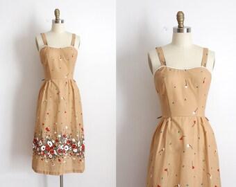 vintage 1970s dress // 70s floral day dress