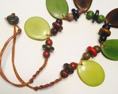 Green Tagua-Nut Necklace