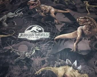 Jurassic Park Fabric Pre Historic Animals Disney Movie  New By The Fat Quarter