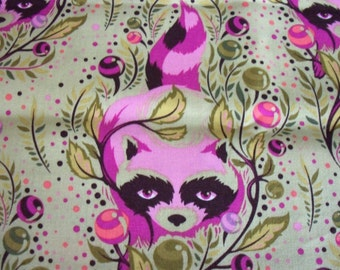 Raccoon Fabric Tula Pink Free Spirit New By The Fat Quarter BTFQ