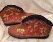 Vintage yogi bear huckleberry finn bedroom shoes slippers vintage fashion