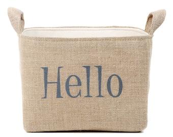 SALE! Hello Goodbye Burlap Storage Basket Set