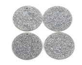 10 GLITTER CIRCLE Disc Laser Cut Acrylic shapes, acrylic blanks, SILVER Glitter Acrylic, for keychains, you choose size, Lca0207