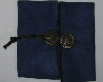 "Portable Altar:  "" Take-a-Long"" Compact Altar Cloth Set - Royal Blue , Wicca, Pagan, Travel"