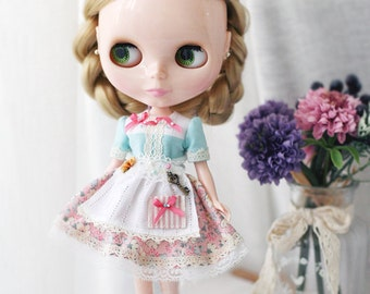 Sweet Shop Dress - for Blythe, MocaPinoRu, Mary&Ann - doll outfit - by kreamdoll