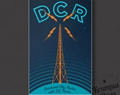 Diamond City Radio DCR // Fallout 4 Inspired Retro Minimalist Art Print Poster for Geeks and Gamers and Everyone