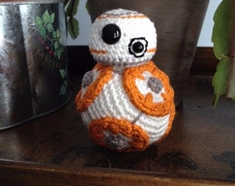 BB-8 Inspired Amigurumi doll- MADE to ORDER- Star Wars Inspired dolls