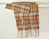 Vintage Plaid Mens Muffler Scarf Cashmere Wide Light Brown & Black Red White Plaid Neckwear Unisex Fashion Menswear