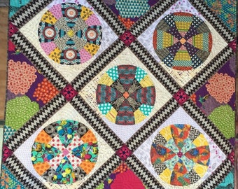 PDF of Snowball Circle quilt pattern
