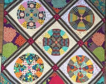 Snowball Circle PDF quilt pattern