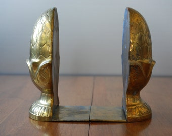 Vintage Pair of Brass Pinecone Bookends - Cottage Chic - Woodland - Modern Country