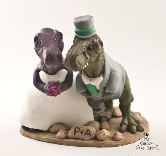 dinosaur wedding cake realistic t rex dinosaur wedding cake topper custom and 13530