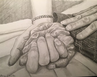 custom drawing from photo of hands