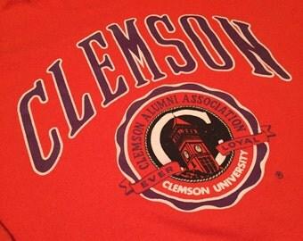 Vintage Clemson Tigers Crew Neck Sweatshirt