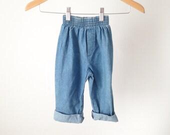 vintage DENIM blue faded JEANS for kids size 3T