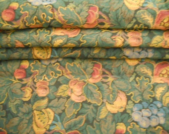 Vintage Pomegranate Tapestry Fabric for Upholstry Ottomans Pillows Totes And Handbags Vintage Fabric Supplies