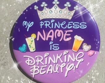 "Disney Drinking Beauty 3"" Button"