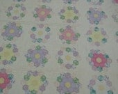 Quilt: Grandmother's Flower Garden  with hand quilted cotton pastel prints