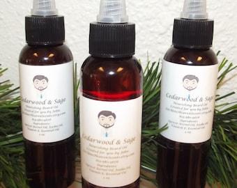 Cedarwood and Sage Beard Oil, Beard Oil Conditioner, Beard Product