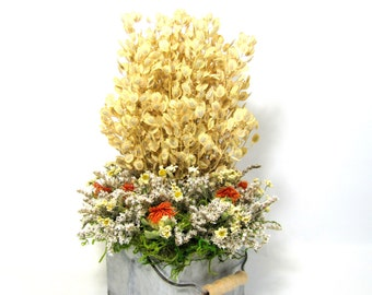 Rustic Fall Arrangement, Dried Flowers, Dried Floral Arrangement